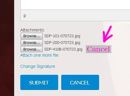 Adding a cancel button to the image or file upload
